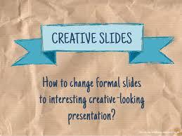 Creative Presentation Slides Design Making