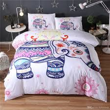 small cute cartoon elephant bedding set white duvet quilt cover sheet sets queen king size bedding canada 2019 from hybeddings cad 110 85 dhgate canada