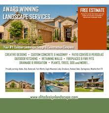 Residential Landscape Design Fort Worth Best Landscape Design Contractor Fort Worth Tx Award