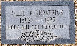 Ollie Kirkpatrick (1892-1932) - Find A Grave Memorial