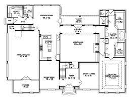 Nice ... 4 Bedroom 2 Bath Floor Plans 2016 19 Bedroom, 3 5 Bath French Style  House ...