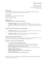 Good Resume Objectives For High School Students Objective Sample Of ...