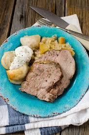 crock pot german pork roast