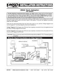 msd 8920 tach adapter magnetic trigger installation user manual msd 8920 tach adapter magnetic trigger installation user manual 2 pages