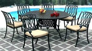 round outdoor dining sets. Modren Dining Round Metal Patio Table Outdoor Dining Set  Inch  Inside Round Outdoor Dining Sets