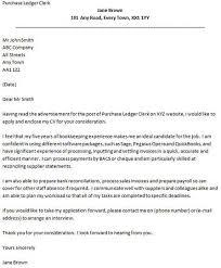 cover letter for purchase ledger purchaser cover letter
