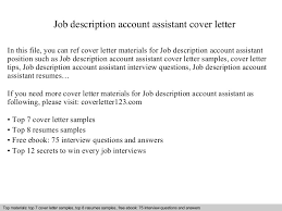 Accounts Assistant Cover Letters Cover Letter For Accounts Assistant Ohye Mcpgroup Co