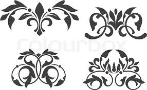 Vector Patterns Fascinating Antique Vintage Floral Patterns Isolated On White Stock Vector
