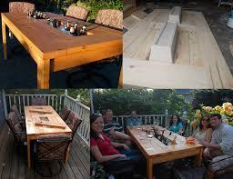 diy outdoor table with cooler. DIY Patio Table With Two Built-in Beer Coolers Diy Outdoor Cooler O