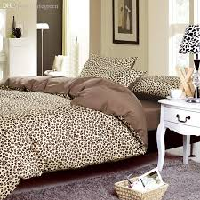 whole 2016 bed linen leopard print duvet cover set 100 cotton 40tc bedding sets 3 duvet cover bed sheet pillowcase king queen cotton bedding best duvet