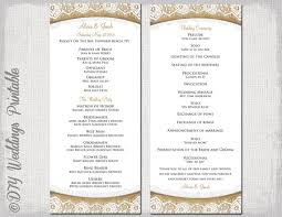 Microsoft Wedding Program Templates Wedding Program Templates Free Microsoft Word Rustic Wedding Program