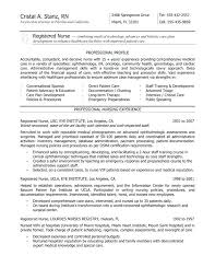 Registered Nurse Resume Template Sample