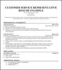 Resume Sample Customer Service Representative Customer Service
