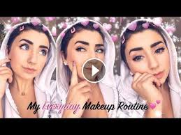 simple everyday makeup routine 2019 natural smokey eye look hannah forcier