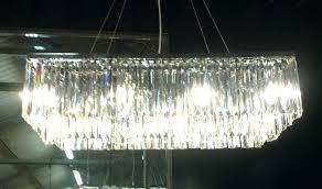 chandeliers rectangular glass drop chandelier chandeliers chrome art style prism crystal cascade photo 2 dro