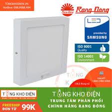 Đèn LED ốp trần vuông Rạng Đông 12W 17x17 , ChipLED Samsung, Model: D LN08L  17x17/12W, Giá tháng 11/2020