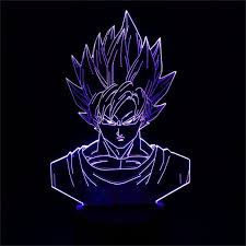Dragon Ball Super Chart Us 3 45 3d Lamp Led Night Light Dragon Ball Z Goku Super Saiyan Action Figure 7 Colors Touchtable Decoration Light Optical Illusion In Led Night