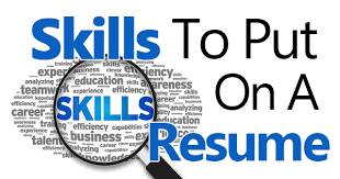 List Of Resume Skills
