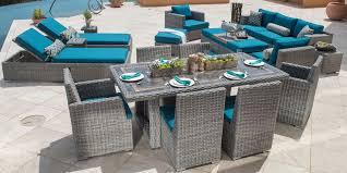 Niko 10piece Modular Seating Set In Slate By Sirio  Home Wishes Niko Outdoor Furniture