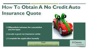 auto insurance quote with no credit check