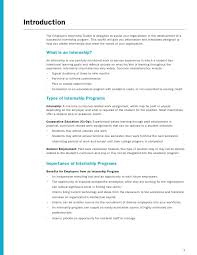 sample internship program twenty hueandi co employer internship toolkit