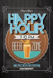 Happy Hour Invitation Template Bar Flyer Psd Omfar Mcpgroup Co