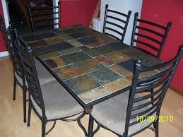 Tile Top Dining Room Table Interior Design