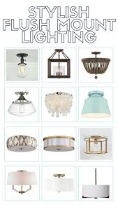 stylish flush mount lighting options reasonable s too