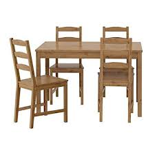 ikea table and 4 chairs antique stain solid pine wood jokkmokk 502 111