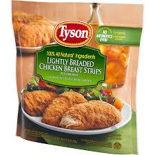 Tyson Naturals Lightly Breaded Chicken Strips Tyson Fully Cooked Lightly Breaded Chicken Strips 36 Oz