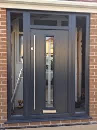 grey front doorGrey front door and frame for sale   in Liverpool Merseyside