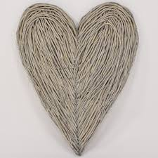 Large Wicker Heart With Lights Large Wall Hanging Wicker Heart Amazon Co Uk Kitchen Home
