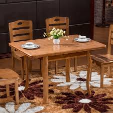 get ations special small apartment telescopic folding dinette combination of solid wood dining table rubber wood dining table