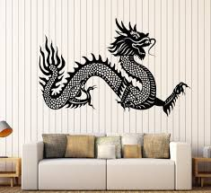 vinyl wall decal chinese dragon symbol asian style fantasy legend design ideas of wall decor stickers