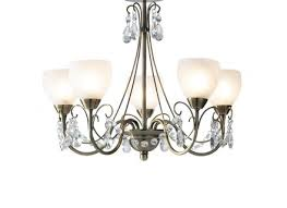 compact 5 light semi flush ceiling chandelier for low ceilings