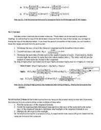 Determining Percent Composition From Molecular Formula Worksheet ...