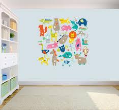 animal alphabet abc kids wall stickers