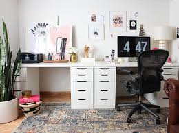 double office desk. one room challenge u2014 fall 2015 finale final reveal of my home office design double desk