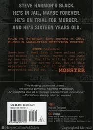 monster walter dean myers paperback cover image monster cover image monster