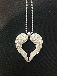 thomas sabo winged angel heart necklace with cubic zirconia