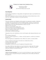 Admission Essay Format Example Admissions Graduate College