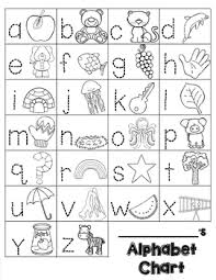 Trace Chart Alphabet Chart Trace And Draw Blackline