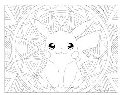Cute Pokemon Coloring Pages To Print Of Pikachu Photo Collection