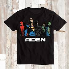Personalized Superheroes Justice League Superhero T Shirt With Name