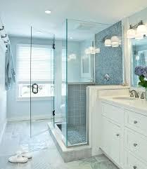 bathroom glass floor blue glass shower tiles fiberglass tub floor inlay