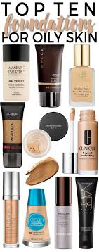 description top 10 foundations for oily skin