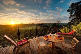 Indonesian Table Setting Ubuds Eco Luxury Boutique Hotel Bambu Indah Bali Indonesia