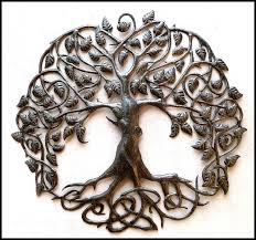 metal wall art metal tree wall hanging outdoor metal art recycled steel drum haitian art 24
