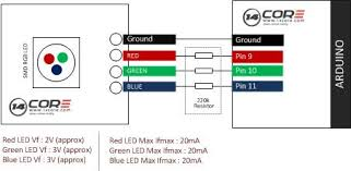 wiring 3 color rgb smd common cathode led 14core com smd led module arduino board schematics wiring diagram