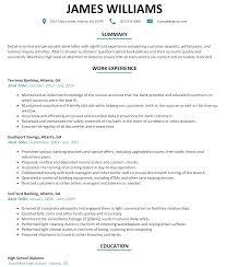 Resume For Bank Teller Resume Templates